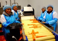 Staff processing Carrots at our West Edmonton Facility